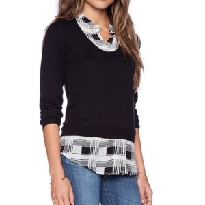 Revolve Central Park West mixed media sweater